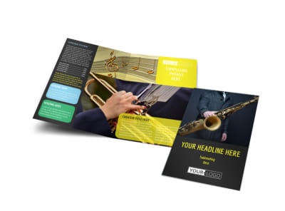 Jazz Music Event Bi-Fold Brochure Template preview