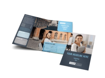Tech University Bi-Fold Brochure Template preview