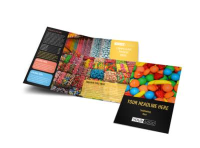 Sweet Candy Store Bi-Fold Brochure Template
