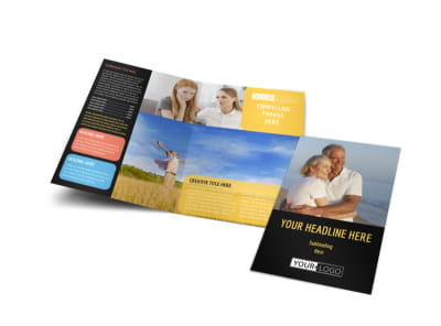 Mental Health Counseling Bi-Fold Brochure Template preview