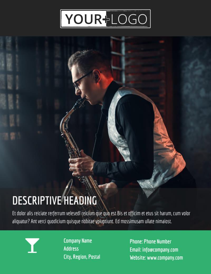 Summer Jazz Concert Flyer Template Preview 3