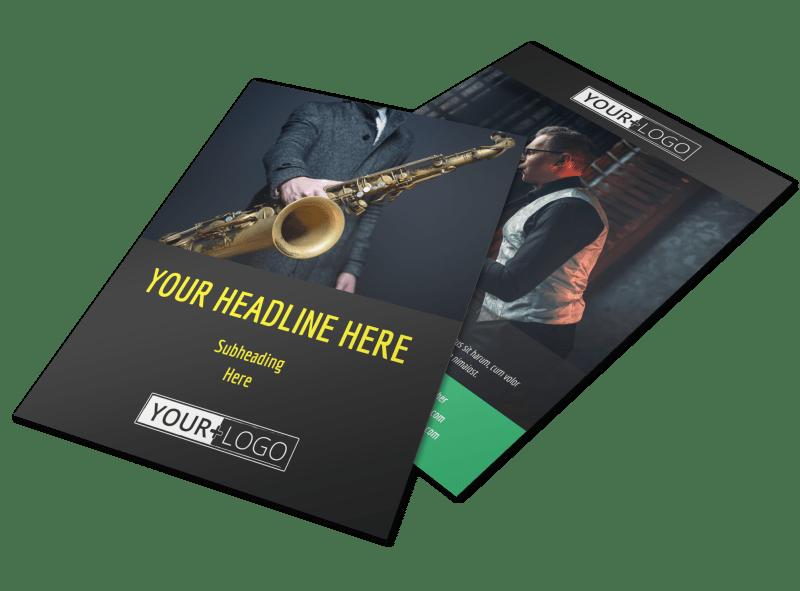 Summer Jazz Concert Flyer Template Preview 1
