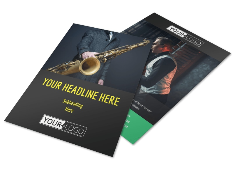 Summer Jazz Concert Flyer Template  Mycreativeshop
