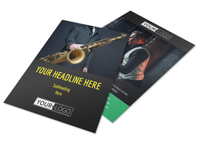 Jazz Music Event Flyer Template preview