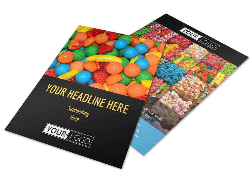 Sweet Candy Store Flyer Template