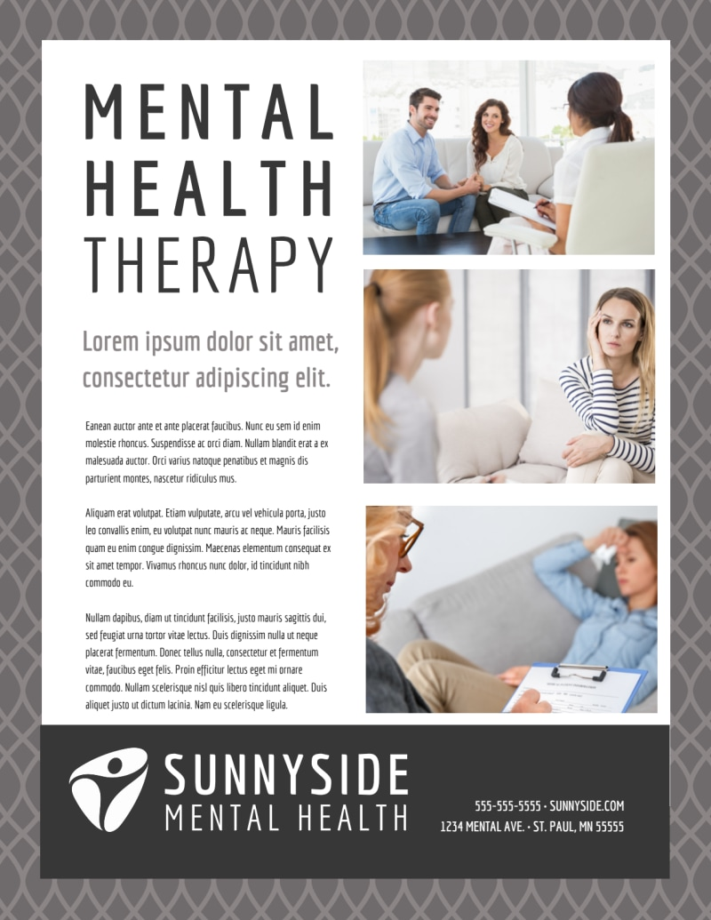 Mental Health Counseling Flyer Template Preview 2
