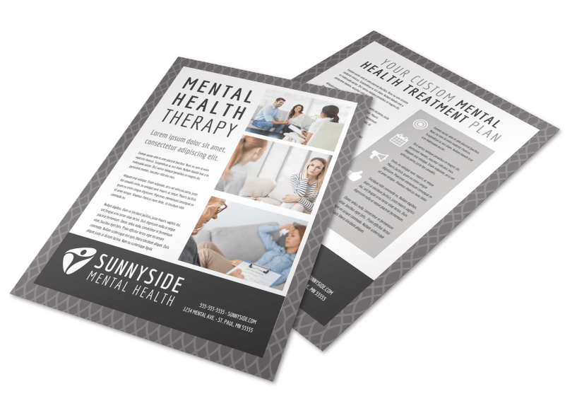 Mental Health Counseling Flyer Template Preview 1