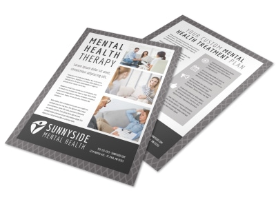 Mental Health Counseling Flyer Template preview