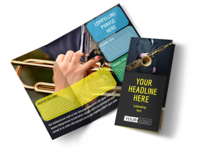 Jazz Music Event Tri-Fold Brochure Template preview