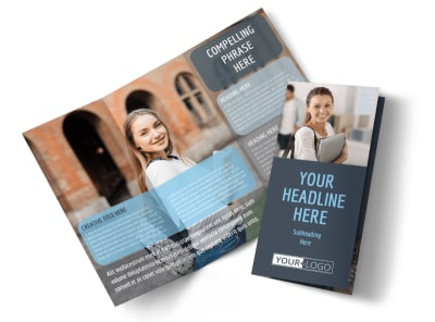 Tech University Tri-Fold Brochure Template preview