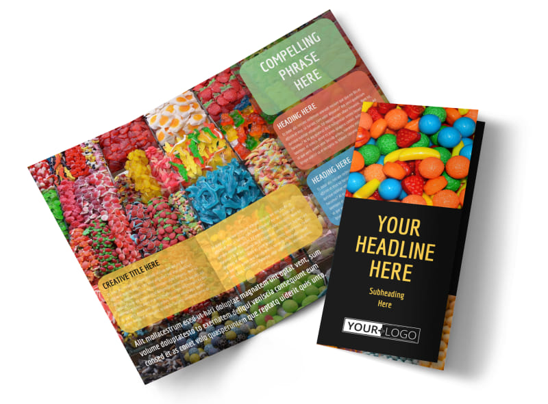 Sweet Candy Store Tri-Fold Brochure Template