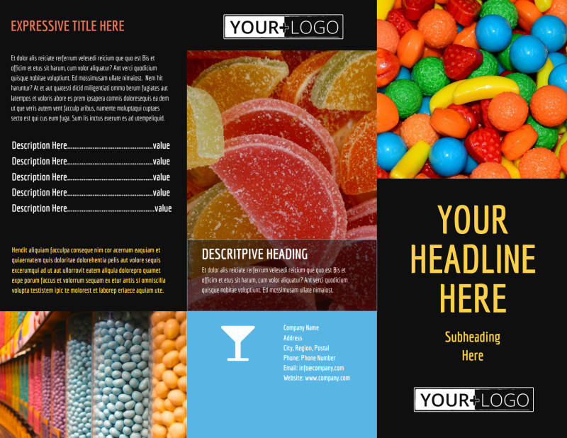 Sweet Candy Store Brochure Template Preview 2