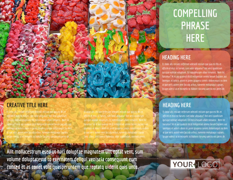 Sweet Candy Store Brochure Template Preview 3