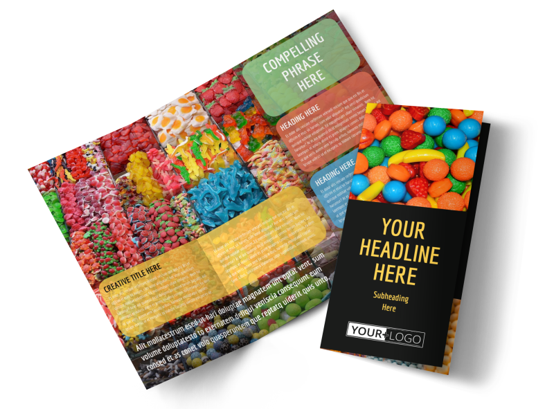 Sweet Candy Store Brochure Template Preview 1