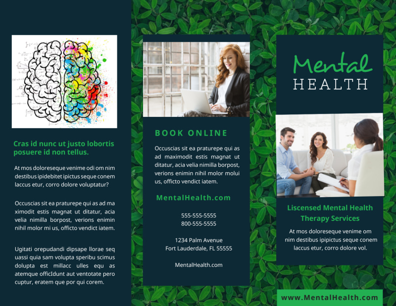 Mental Health Counseling Brochure Template Preview 2