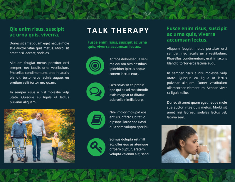 Mental Health Counseling Brochure Template Preview 3