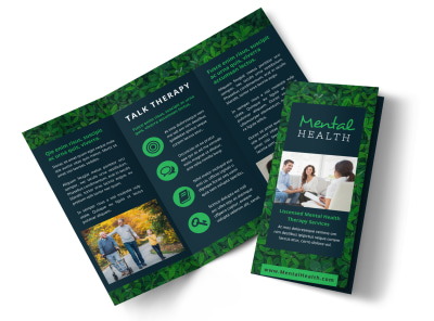 Mental Health Counseling Tri-Fold Brochure Template preview