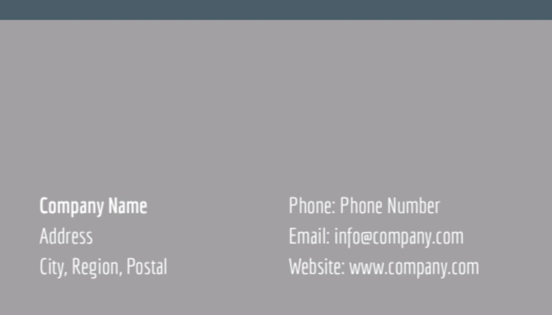 Tech University Business Card Template Preview 3