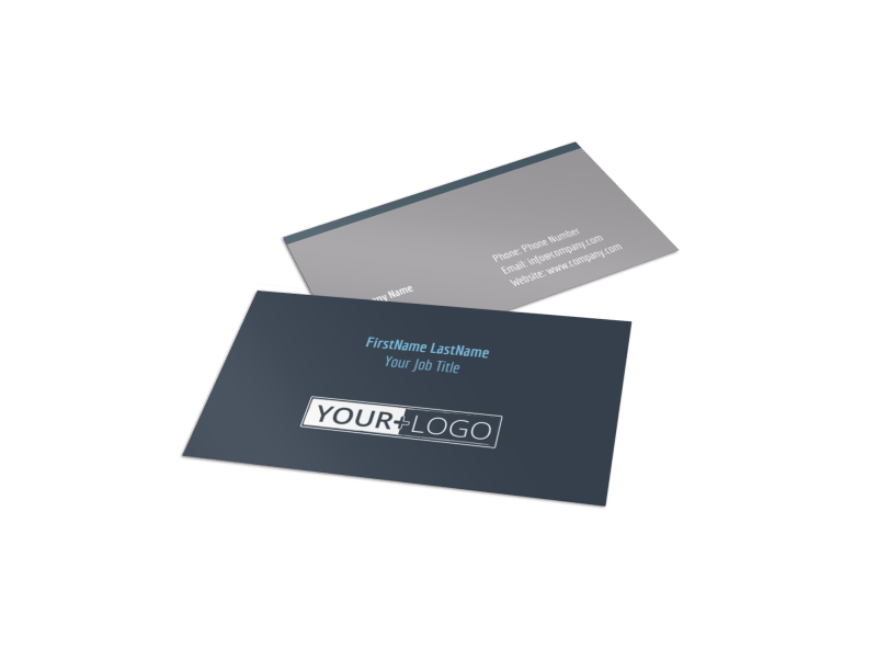 Tech University Business Card Template Preview 1