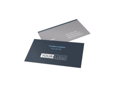 Tech University Business Card Template preview