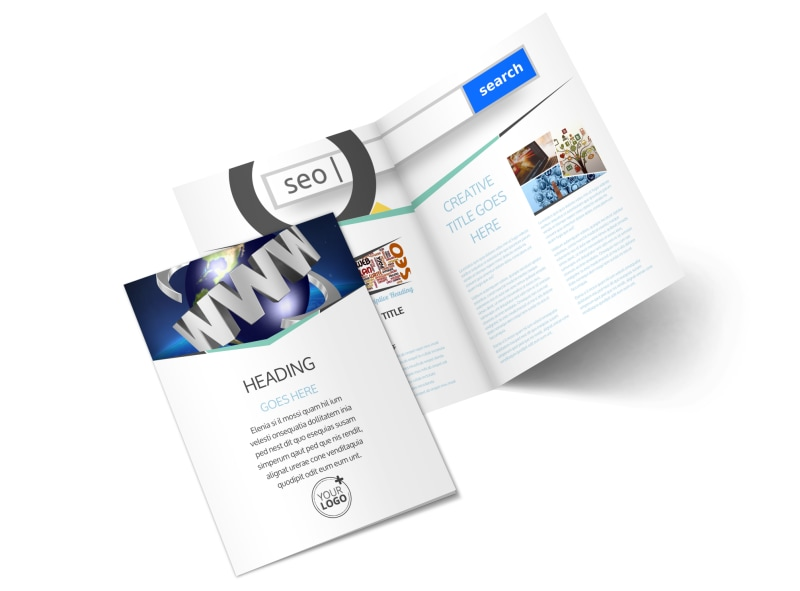 Cutting Edge Website Design Bi-Fold Brochure Template 2