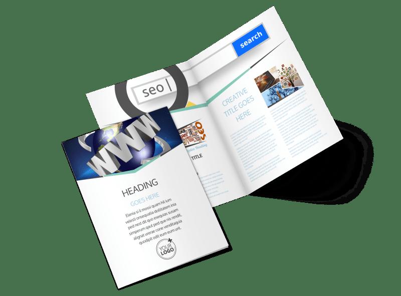 Cutting Edge Website Design Brochure Template Preview 1