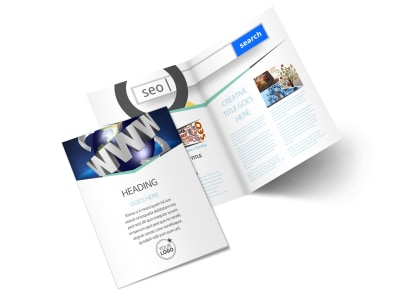 Cutting Edge Website Design Bi-Fold Brochure Template 2 preview