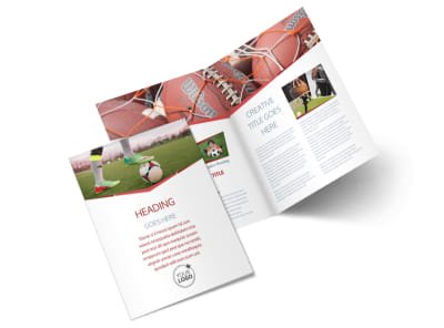 Sports Photography Bi-Fold Brochure Template 2