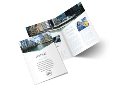 Top Commercial Real Estate Bi-Fold Brochure Template 2