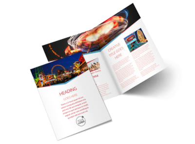 Amusement Park Bundle Bi-Fold Brochure Template 2