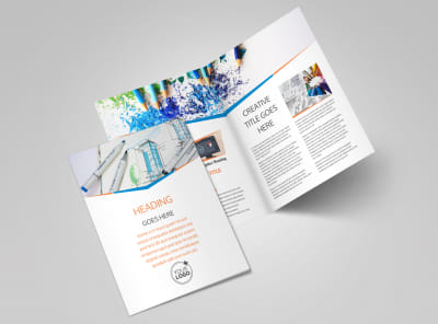 Graphic Design Bundle Bi-Fold Brochure Template 2