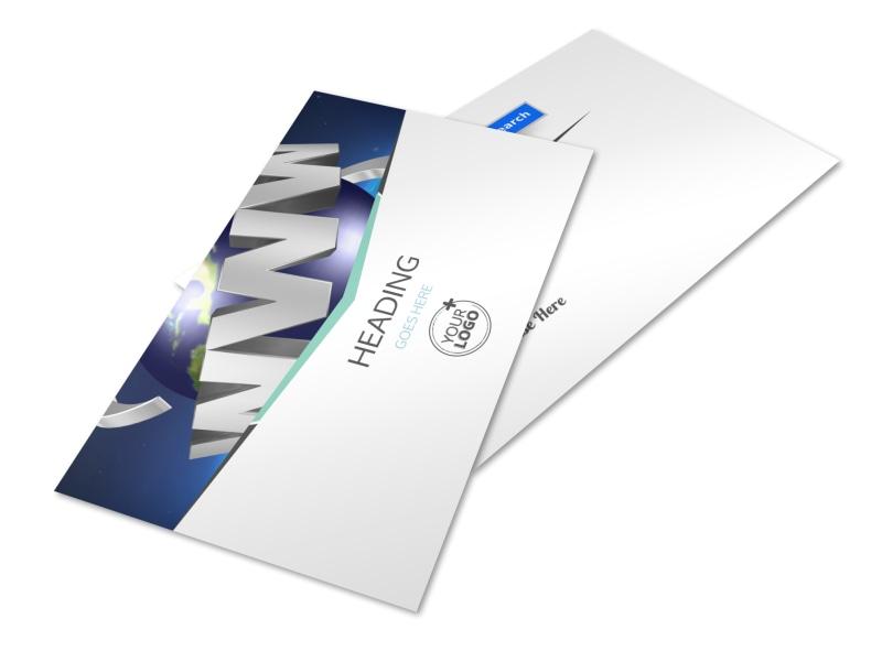 Cutting Edge Website Design Postcard Template 2