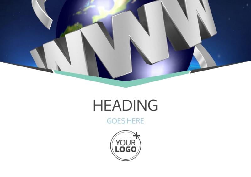Cutting Edge Website Design Postcard Template Preview 2