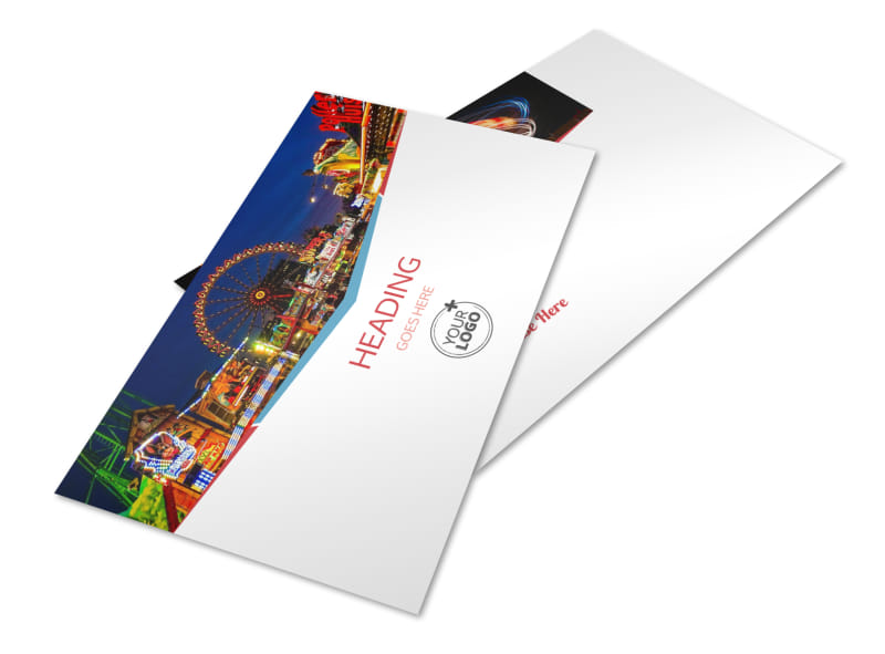 Amusement Park Bundle Postcard Template 2