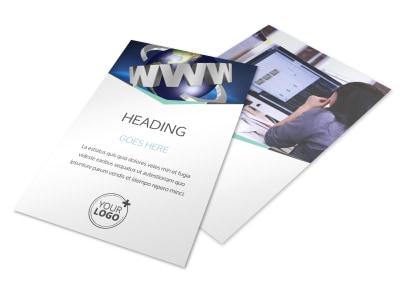 Cutting Edge Website Design Flyer Template 3