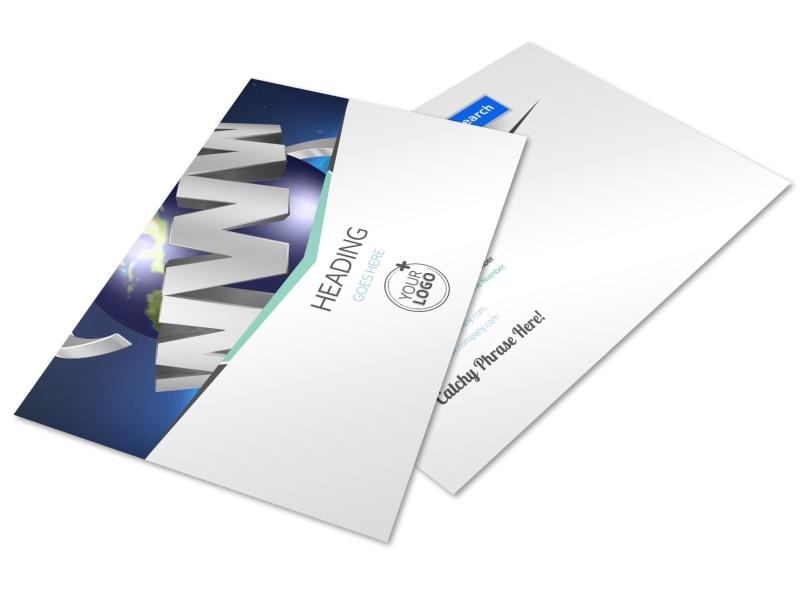 Cutting Edge Website Design Postcard Template Preview 4