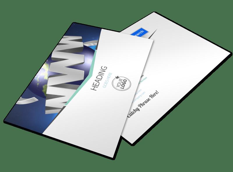 Cutting Edge Website Design Postcard Template Preview 1
