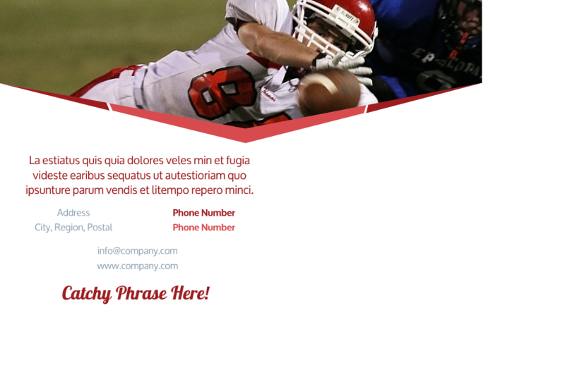 Sports Photography Postcard Template Preview 3
