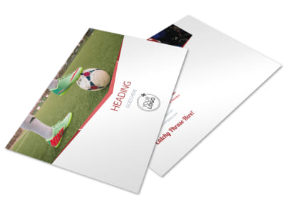 Sports Photography Postcard Template preview