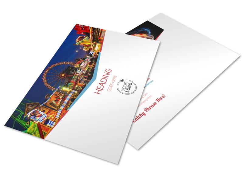 Amusement Park Bundle Postcard Template Preview 4