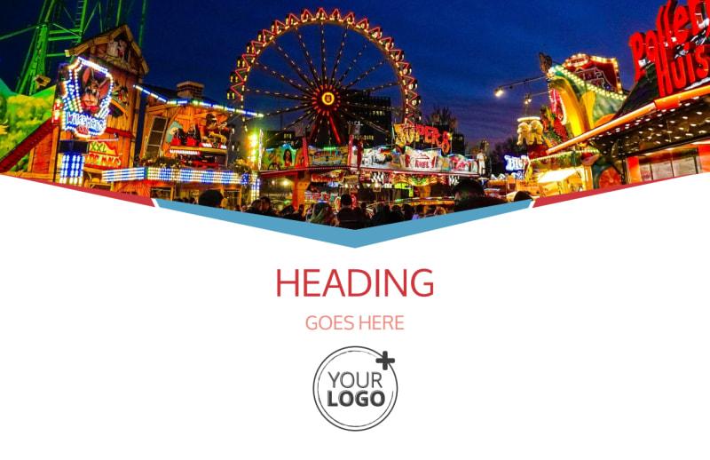 Amusement Park Bundle Postcard Template Preview 2