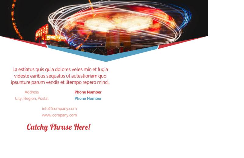 Amusement Park Bundle Postcard Template Preview 3