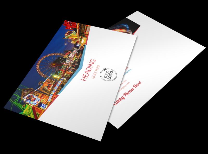 Amusement Park Bundle Postcard Template Preview 1