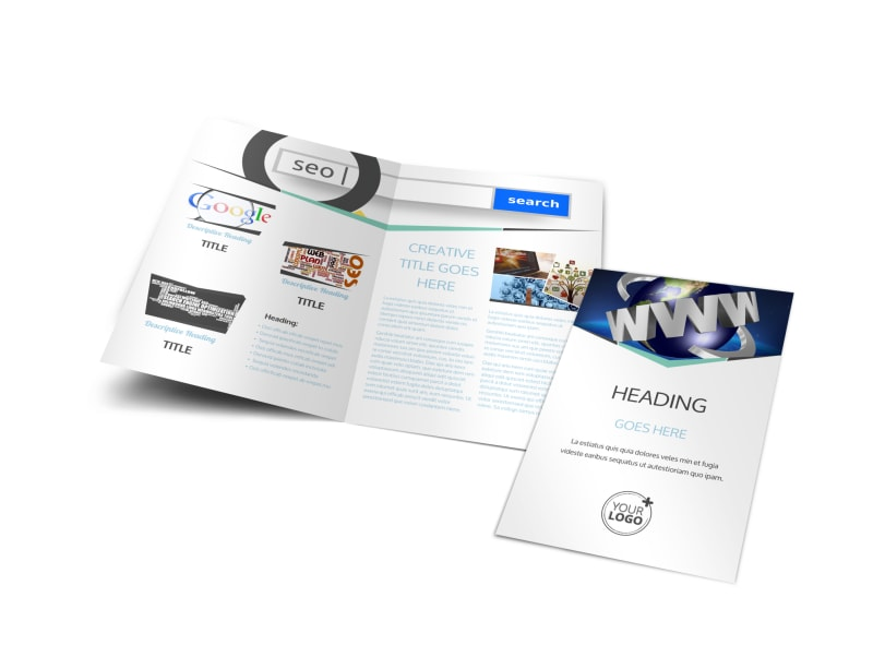 Cutting Edge Website Design Bi-Fold Brochure Template