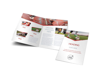 Sports Photography Bi-Fold Brochure Template preview