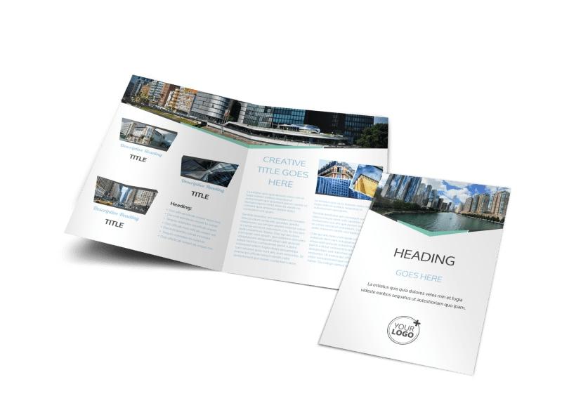 top commercial real estate bi fold brochure template. Black Bedroom Furniture Sets. Home Design Ideas