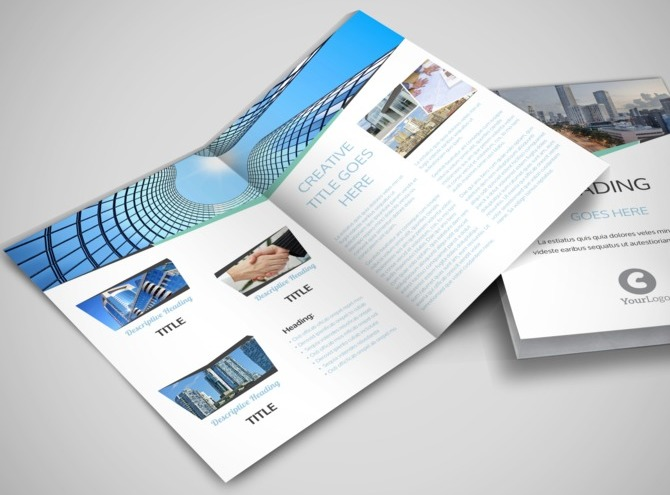 commercial real estate brochure template - top commercial real estate bi fold brochure template