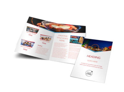 Amusement Park Bundle Bi-Fold Brochure Template