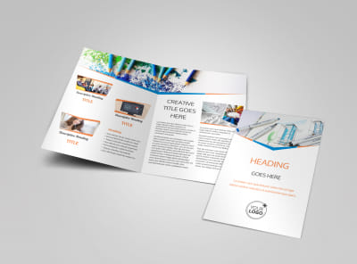 Graphic Design Bundle Bi-Fold Brochure Template