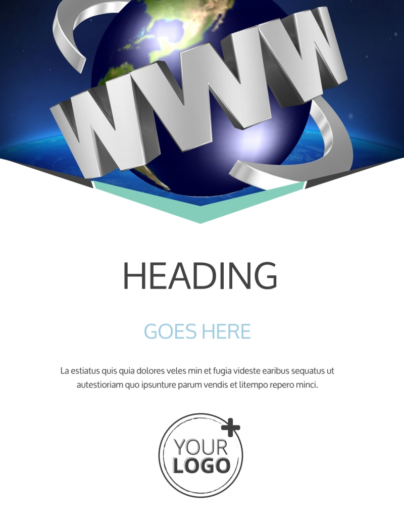 Cutting Edge Website Design Flyer Template Preview 2